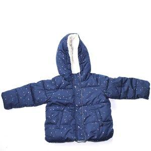 Steve Madden Blue Puffer Jacket Girls Sz 12 Months